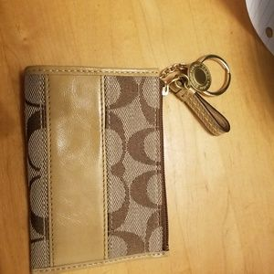 Coin, card, cash mini wallet.